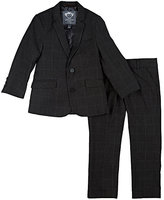 Appaman Windowpane-Checked Nailhead-Weave Two-Button Suit-GREY