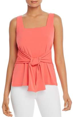 Kenneth Cole Sleeveless Tie-Front Top