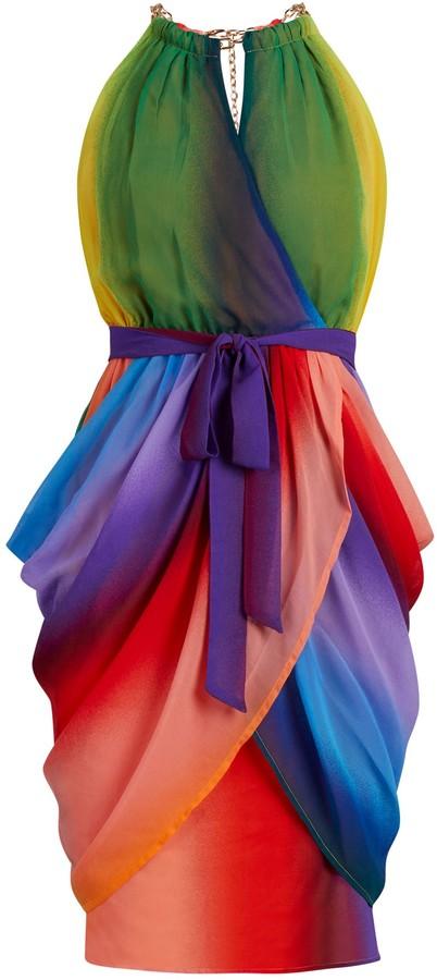 New York & Co. Rainbow Draped Dress