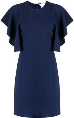 Stella McCartney Flounce-Sleeve Mini Dress