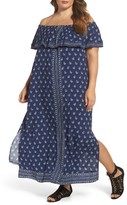 Plus Size Women's Two By Vince Camuto Paisley Off The Shoulder Maxi Dress