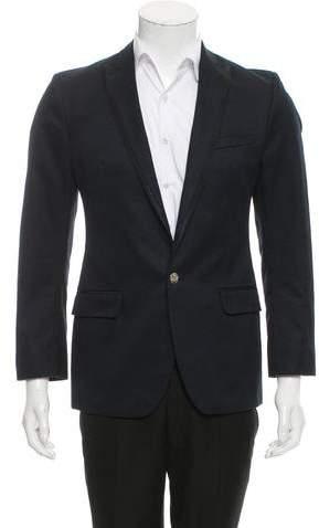 Dolce & Gabbana Satin-Trimmed One-Button Blazer