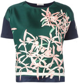 Moncler floral print top - women - Silk/Cotton - XS