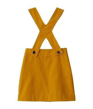 Oscar de la Renta Childrenswear Twill Overall Dress (Toddler/Little Kids/Big Kids)