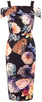 Oasis ROSE PRINT BARDOT PENCIL DRESS