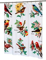"Carnation Home Fashions ""Audubon"" Fabric Shower Curtain"