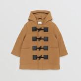 Burberry Childrens Logo Detail Wool Cashmere Blend Duffle Coat