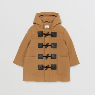 Burberry Childrens Logo Detail Wool Cashmere Blend Duffle Coat