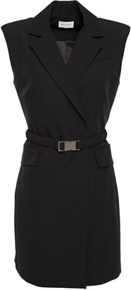 Milly Belted Cady Mini Dress