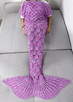 YiZYiF Mermail Tails Costume Adults Kids Teens All Reasons Blankets for Bedroom Living Room (Fuchsia Scale(Adults 2))