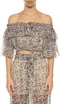 Zimmermann Printed Cropped Top