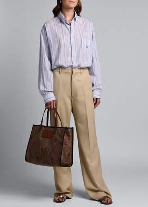 Etro Straight-Leg Wool Trousers