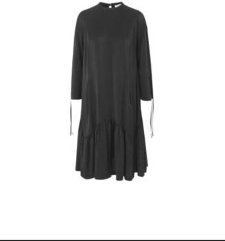 Mads Norgaard Glass Diviana Dress - S . | black - Black/Black