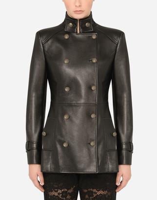 Dolce & Gabbana Leather Peacoat