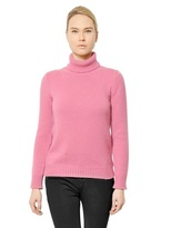 Jil Sander Ribbed Knit Cashmere Turtle Neck Sweater