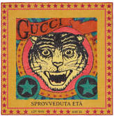 Gucci Tiger print pocket square