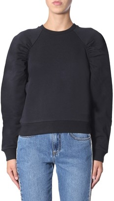 MSGM Feather Detail Puff Sleeve Sweater