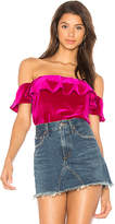 Amanda Uprichard Joanna Top in Pink. - size L (also in M,S,XS)