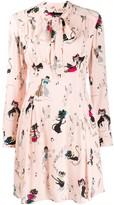 Moschino long-sleeve flared dress