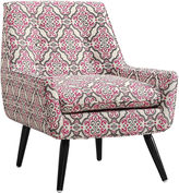 Asstd National Brand Eagle Trelis Tufted Fabric Club Chair