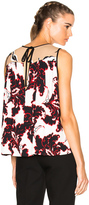 MSGM Printed Sleeveless Top in Black,Abstract.