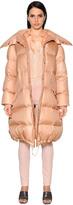 Nina Ricci Oversized Shiny Habutai Down Coat