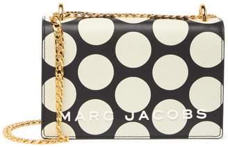 Marc Jacobs Double Take Leather Polka Dot Chain Crossbody Bag