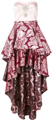 Christian Pellizzari frill-layered asymmetric dress