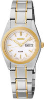 Seiko Womens Two-Tone Stainless Steel Solar Bracelet Watch SUT108