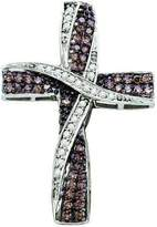 DazzlingRock Collection 0.57 Carat (ctw) 10k White Gold & White Diamond Ladies Cross Pendant