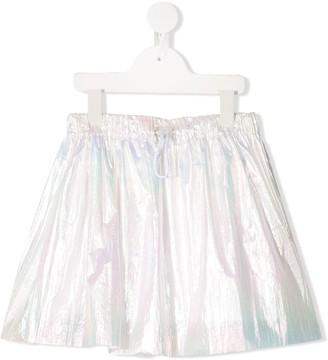 Raspberry Plum Brexley iridescent-effect skirt