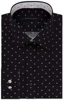 Sean John Men's Classic/Regular Fit Logo Print Dress Shirt