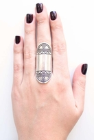 Low Luv by Erin Wasson Aztec Finger Ring in Silver