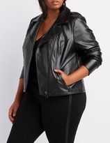 Charlotte Russe Plus Size Faux Leather Moto Jacket