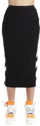 Off-White Diag Striped Pencil Skirt