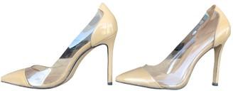 Gianvito Rossi Plexi Beige Plastic Heels