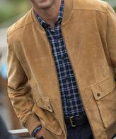 Cutter & Buck Tan Hemingway Suede Jacket - Big & Tall