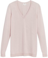 Classic Cotton Cashmere V-Neck Sweater