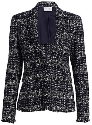 Akris Punto Tweed Double Breasted Blazer