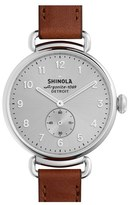 Shinola Women's The Canfield Leather Strap Watch, 38Mm