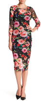 Alexia Admor Mesh Floral Print Dress