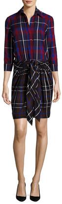 L'Agence Linagence Kylie Plaid Shirtdress