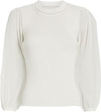 Jonathan Simkhai Veronica Puff Sleeve Cotton Sweater