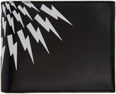 Neil Barrett Black Classic Thunderbolt Wallet