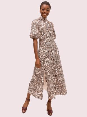 Kate Spade Flair Flora Devore Midi Dress