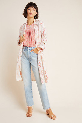 Cupcakes And Cashmere Heather Snake-Printed Trench Coat By in Pink Size S