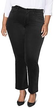 NYDJ Plus Marilyn Velvet Straight-Leg Jeans in Grenache