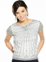 Very Embellished Short Sleeve Top - Ivory