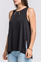 Lush Basic Black Tank Top