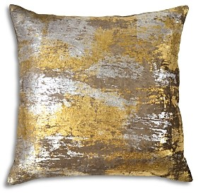 Michael Aram Distressed Metallic Velvet Print Decorative Pillow, 20 x 20